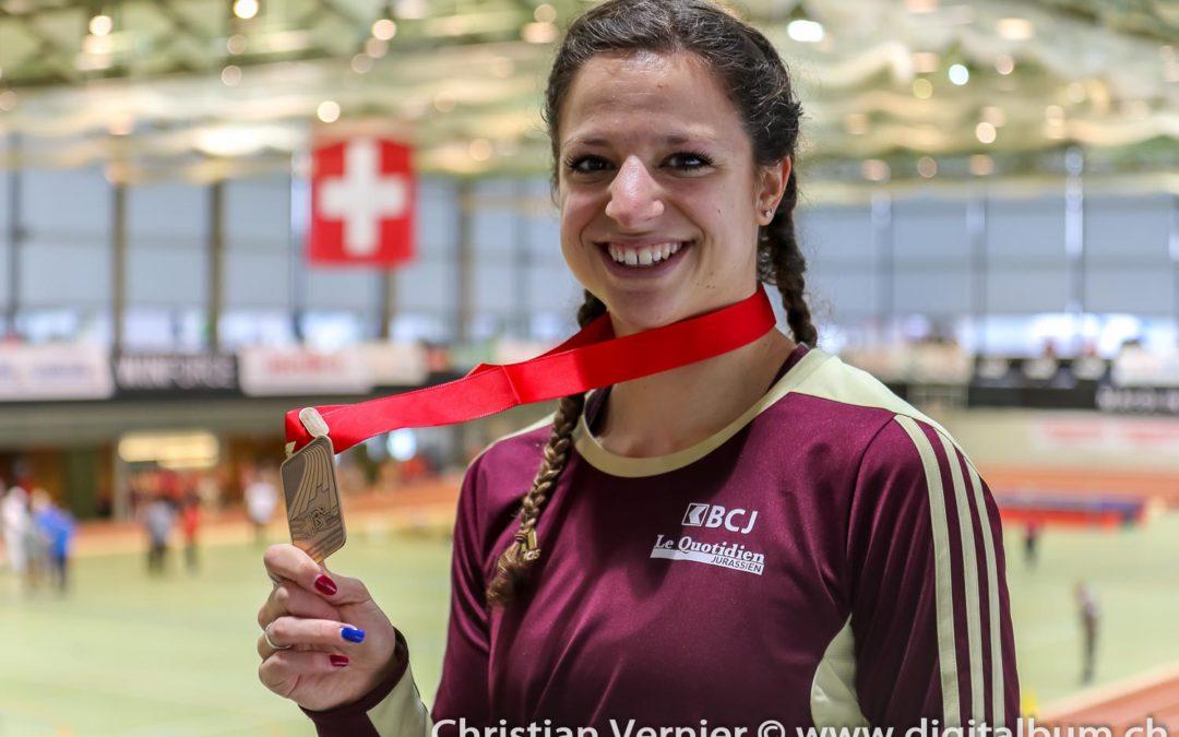 Championnats de Suisse élites en salle – Médaille de bronze et de chocolat pour nos coureuses de 400 m!