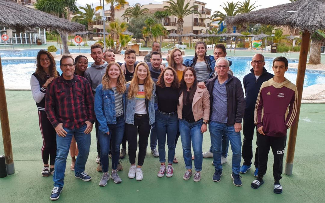 Le groupe de compétition en Espagne