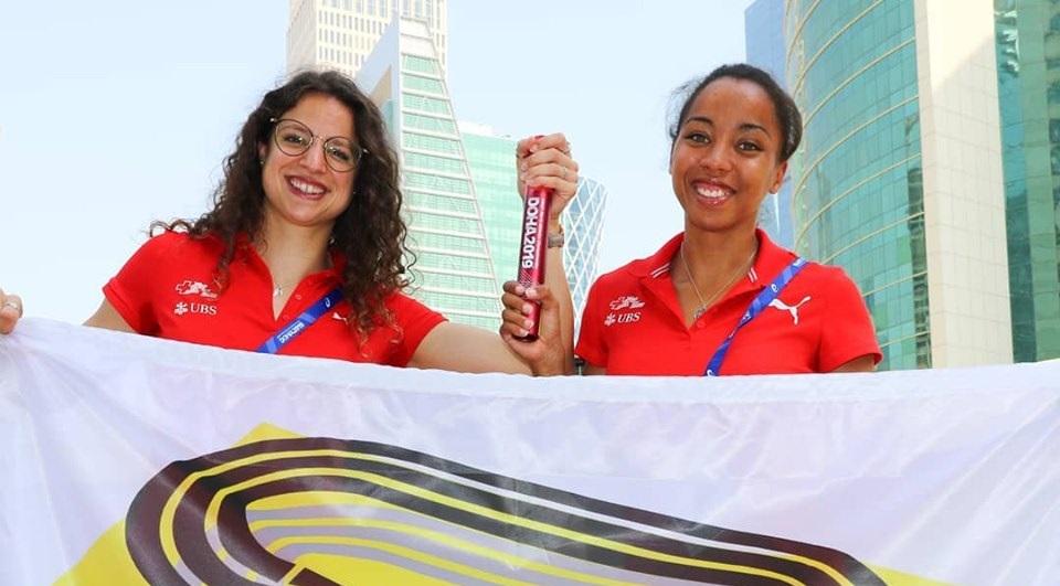Fanette et Rachel sur la piste de Doha!